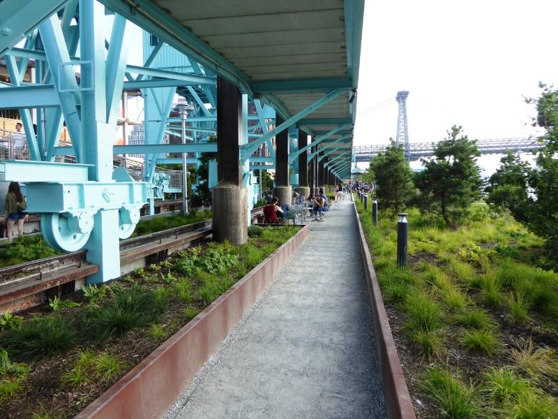 Path below elevated Heritage Walk
