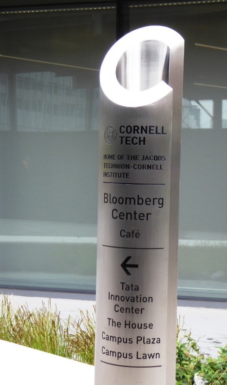 Cornell Tech directional sign