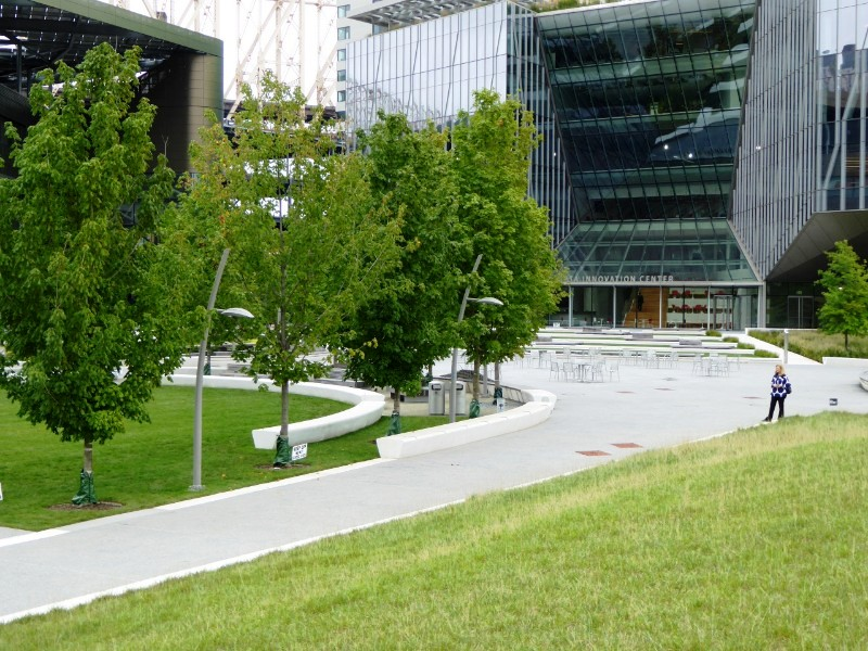 Open space between Tata Innovation Center & Bloomberg Center