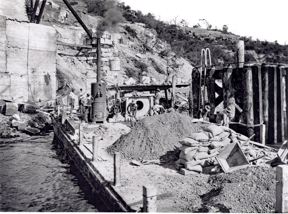 Coal Loader under construction