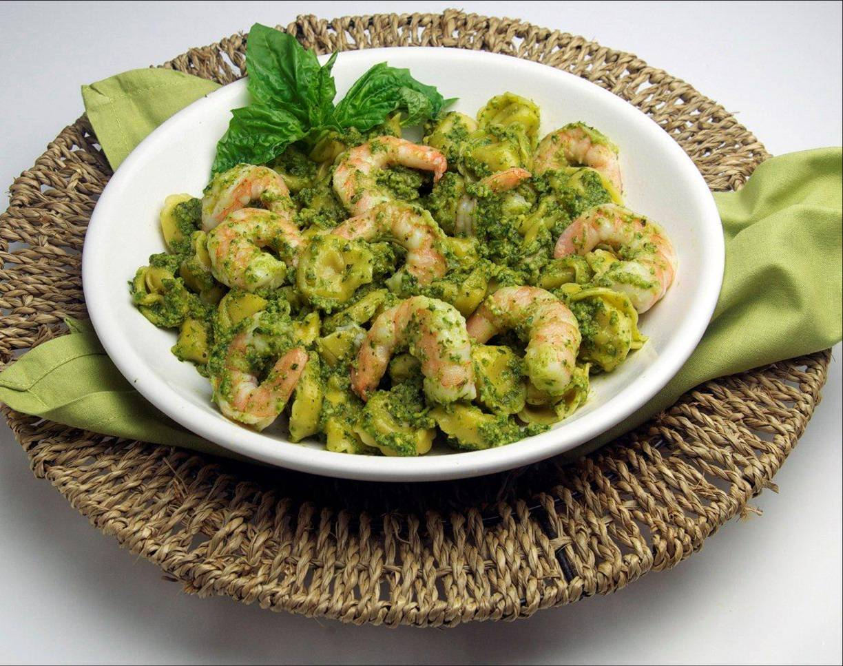 Shrimp Pesto Tortellini