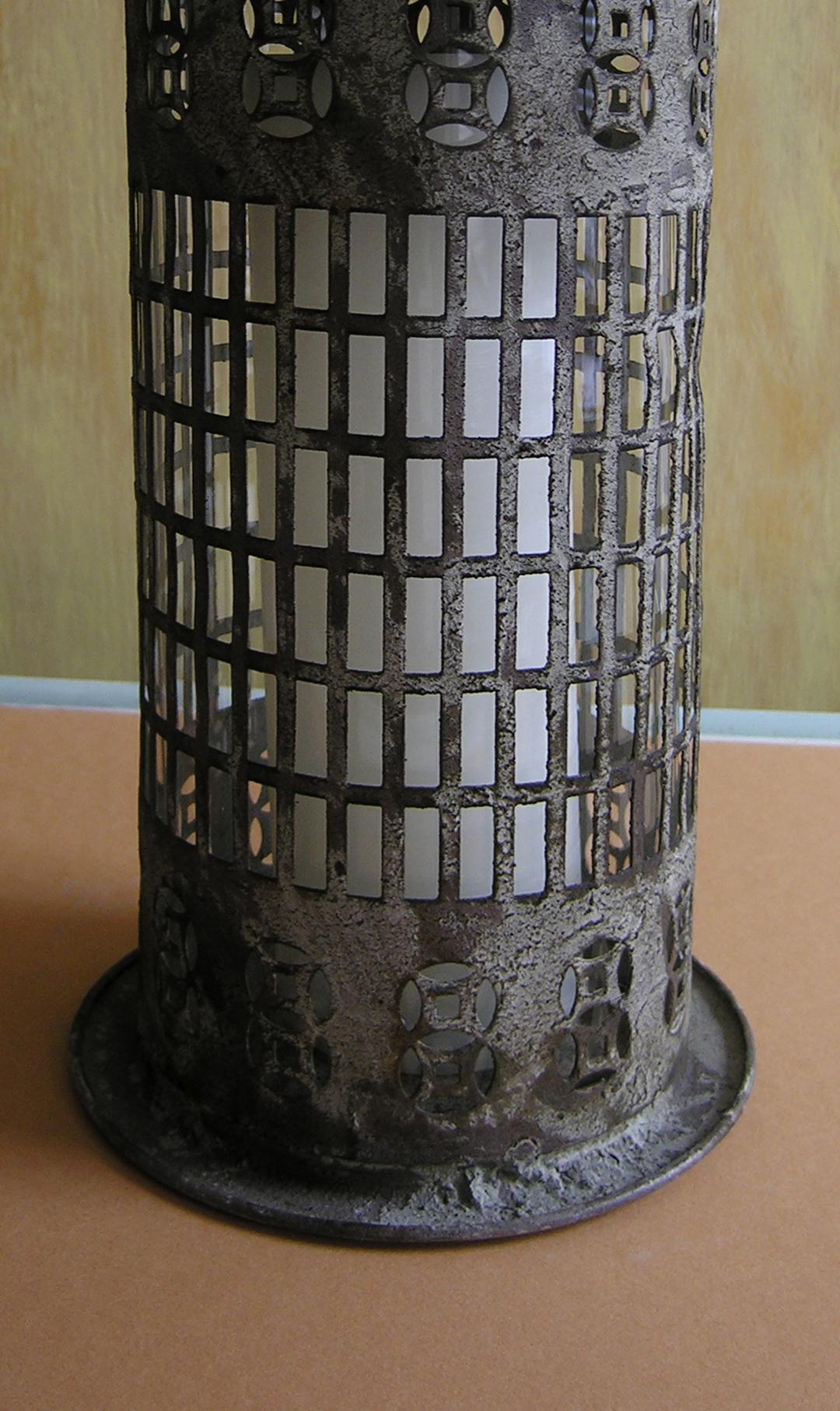 Decorative Metal Candle Lantern - Detail Shot