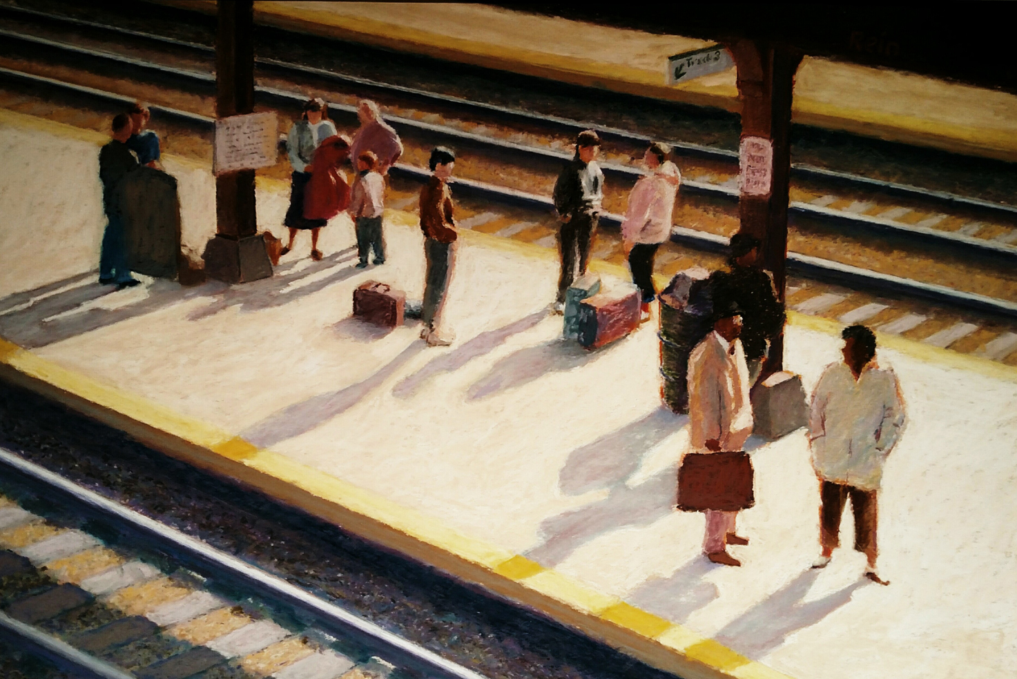 Poughkeepsie Train Station,  Sam Rein (1925-2007), will be offered at Silent Auction at the Opening Reception (courtesy Barrett Art Center), as well as an exhibition poster.
