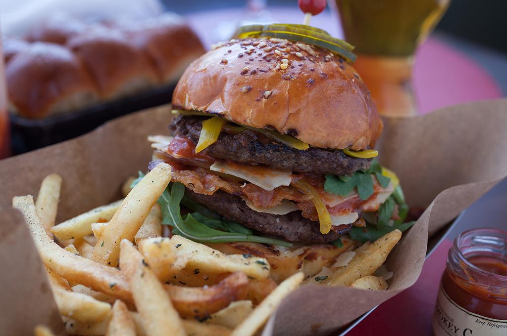 Cheddar Burger at the Tavern at American Bounty Restaurant