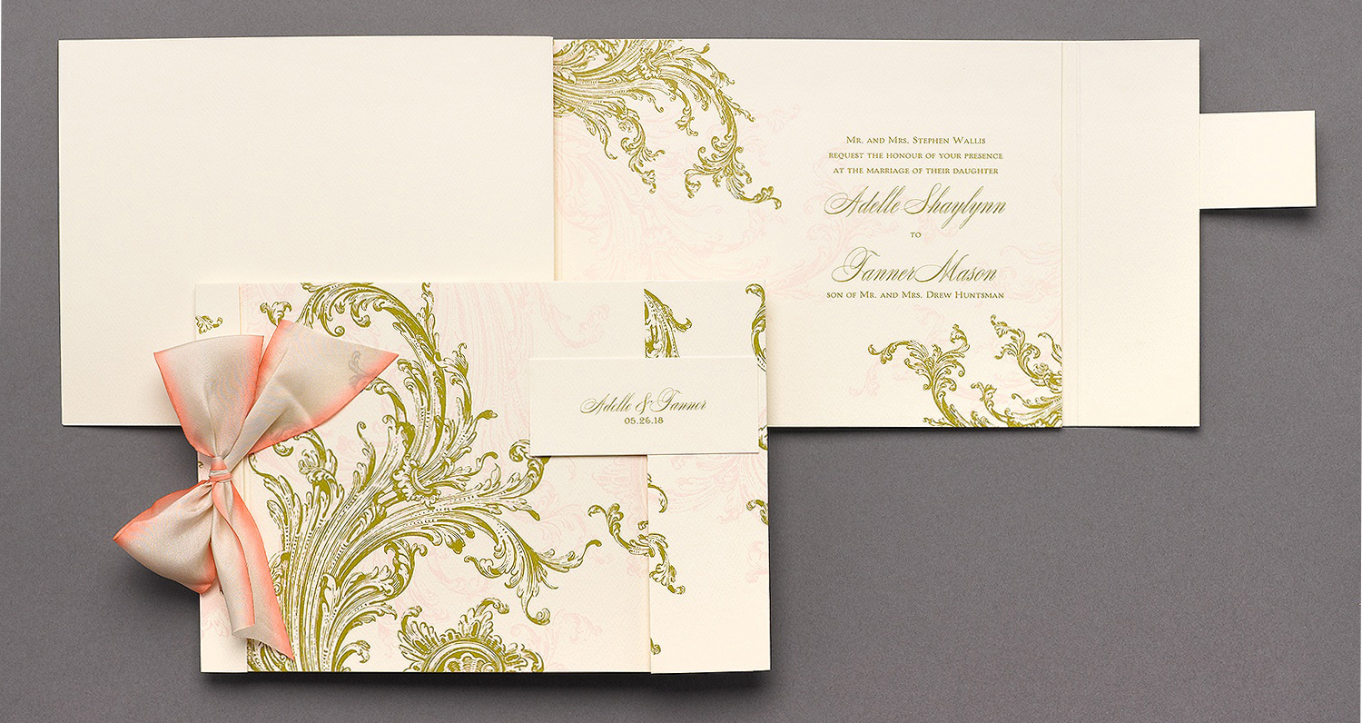 Something Fabulous  Designer Collection,  Love Story  Wedding Invitation