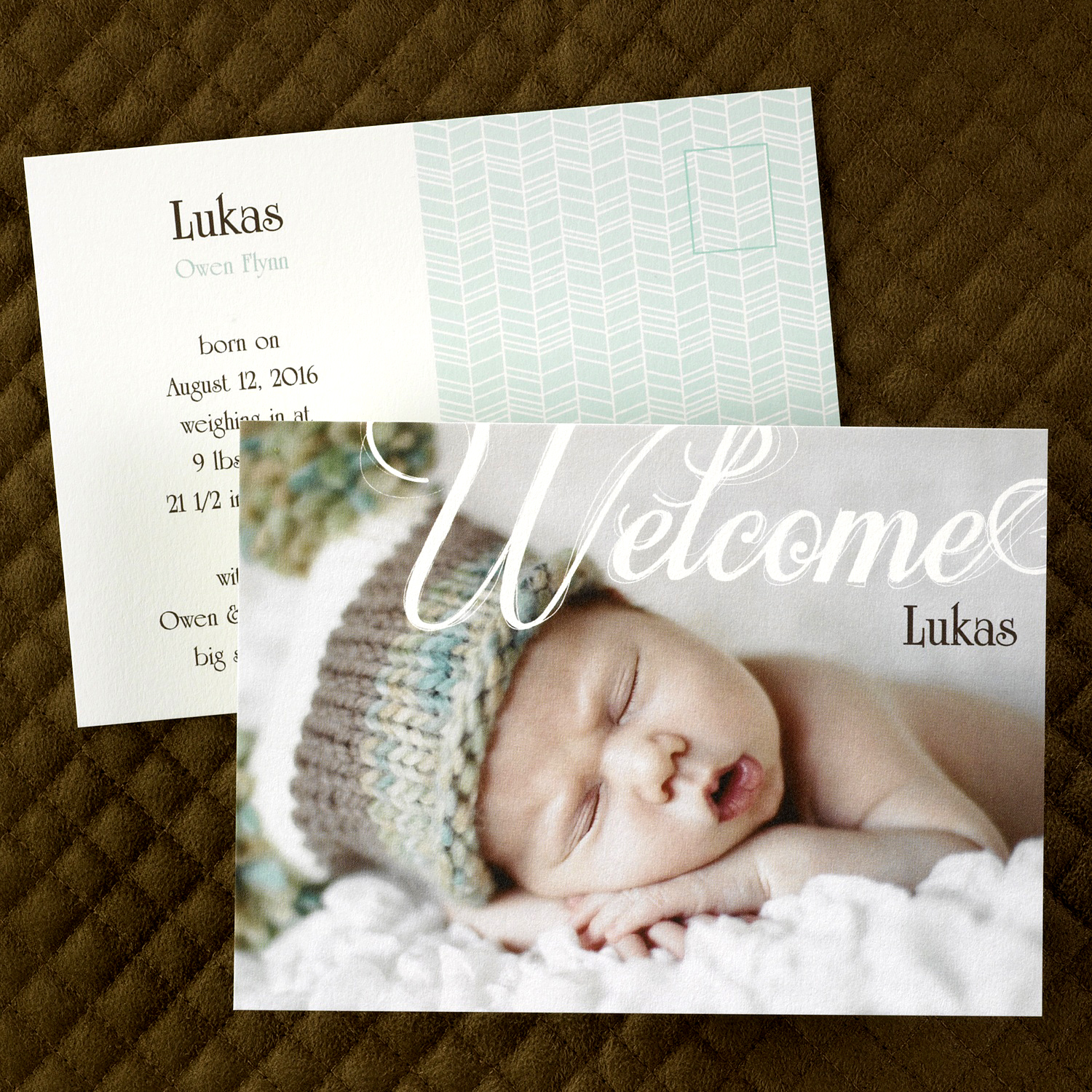 Welcome Postcard, Birth Announcement