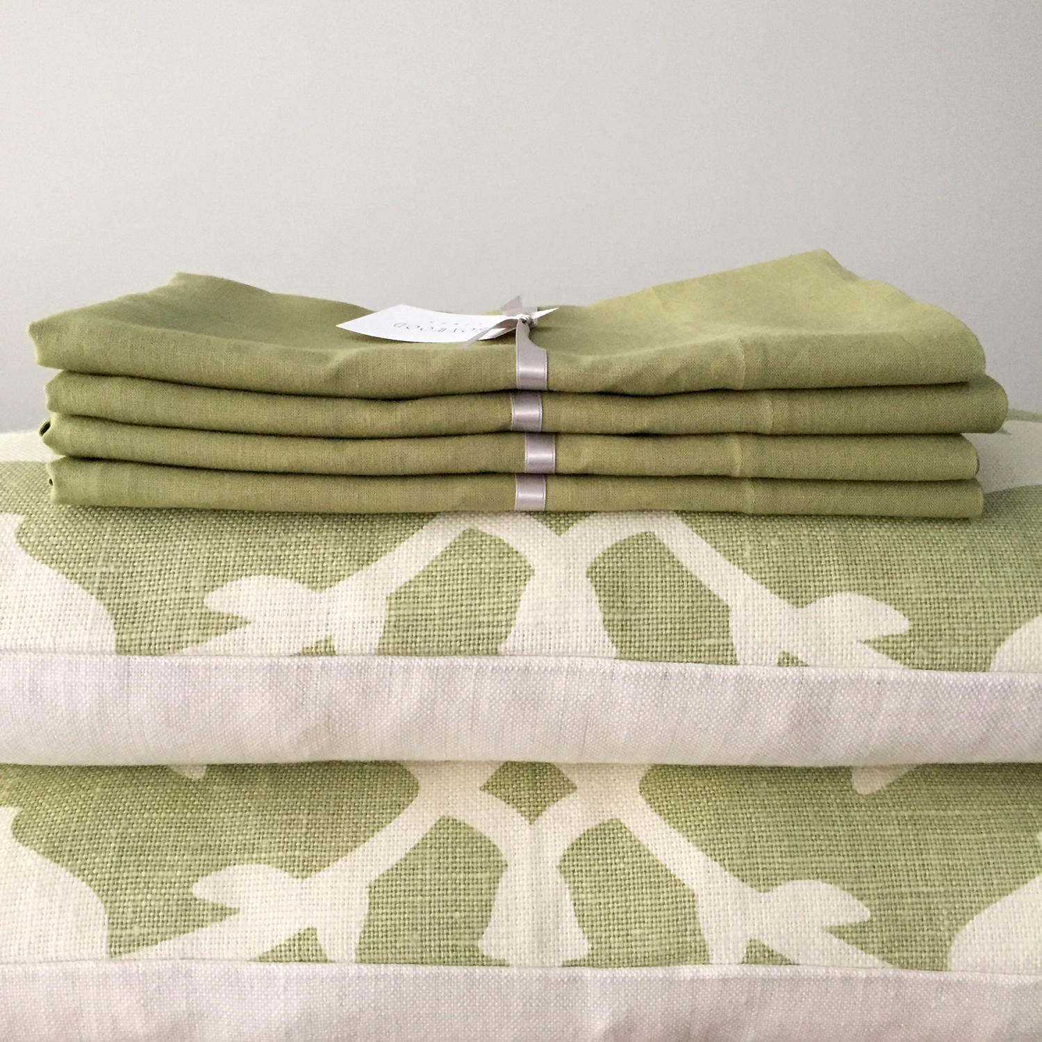 Pistachio Green Linen Pillowcases