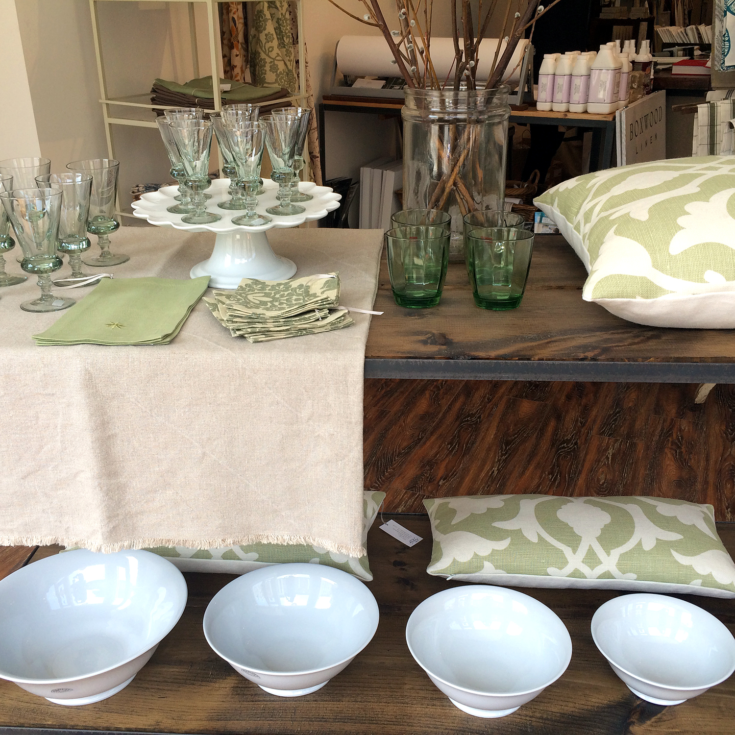 Glassware, Ceramics and Linens