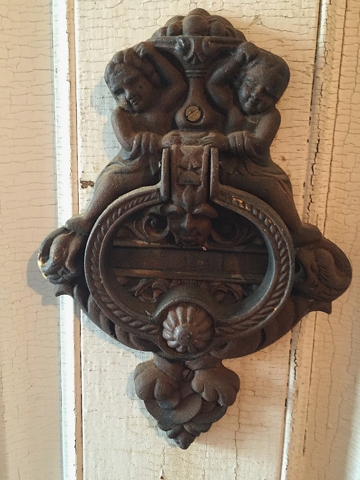Front Door Cherub Brass Door Knocker