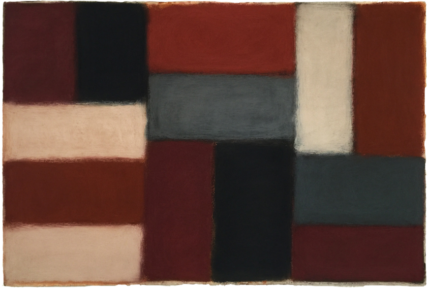 """Sean Scully,  Doric 11.12.15,  Pastel on paper, 40"""" x 60"""""""