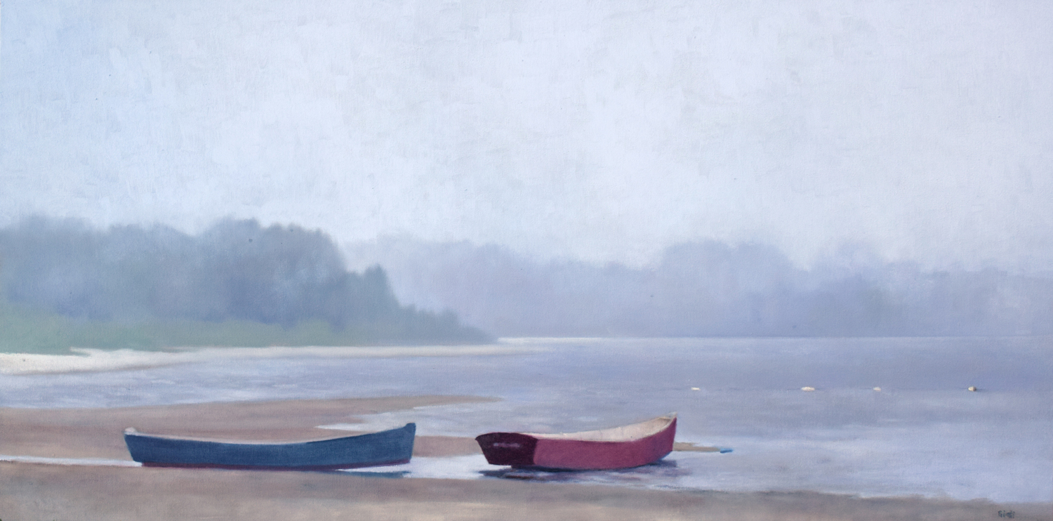 Misty Morning, West Yarmouth, 24 x 48