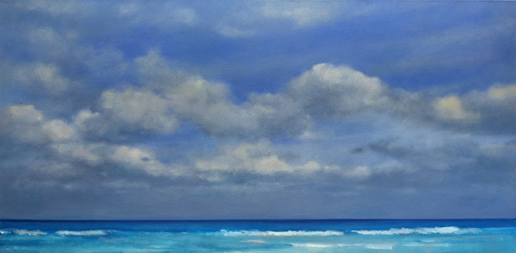 Tropical Blue, 24 x 48
