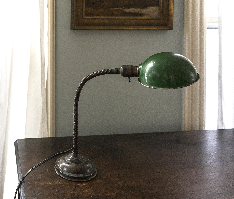 Vintage Industrial Gooseneck Lamp -  SOLD