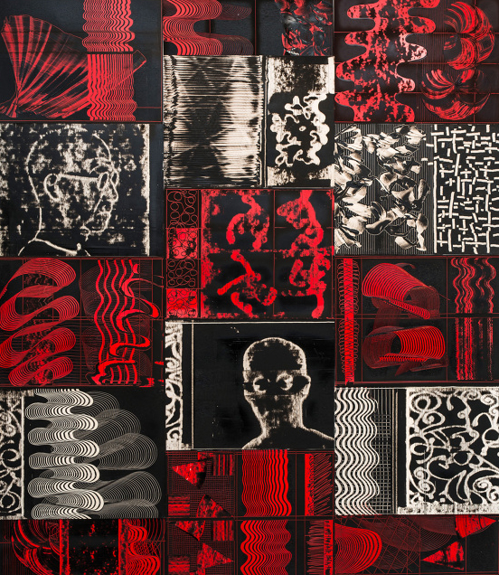 Sydney Cash,  Red Forward, Dibond on Sheet Aluminum