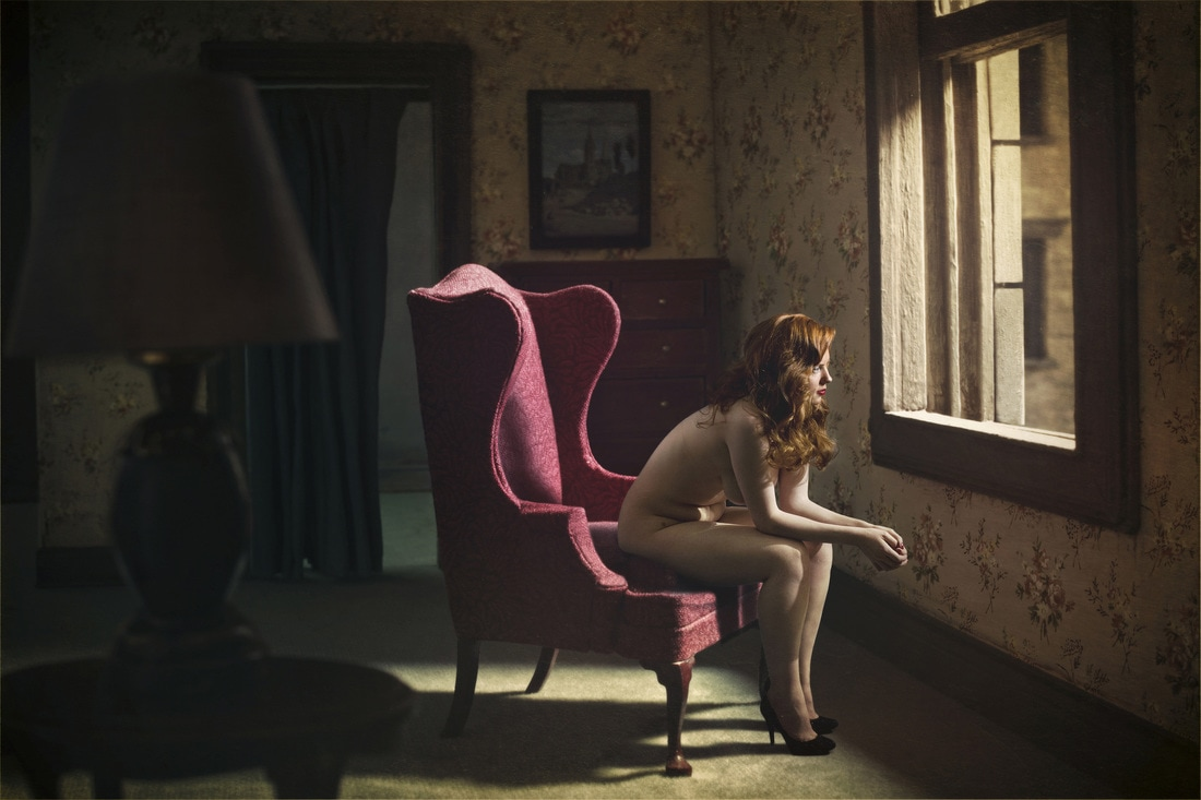 """Woman At A Window,"" 2012, Archival Pigment Print, from the series 'Hopper Meditations.' (c) Richard Tuschman/Courtesy of Klompching Gallery, New York"