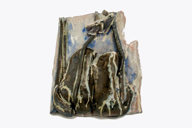30cm W; 40cm H; 13cm D  Hand Built, Glazed Stoneware, Cone 6 Oxidation
