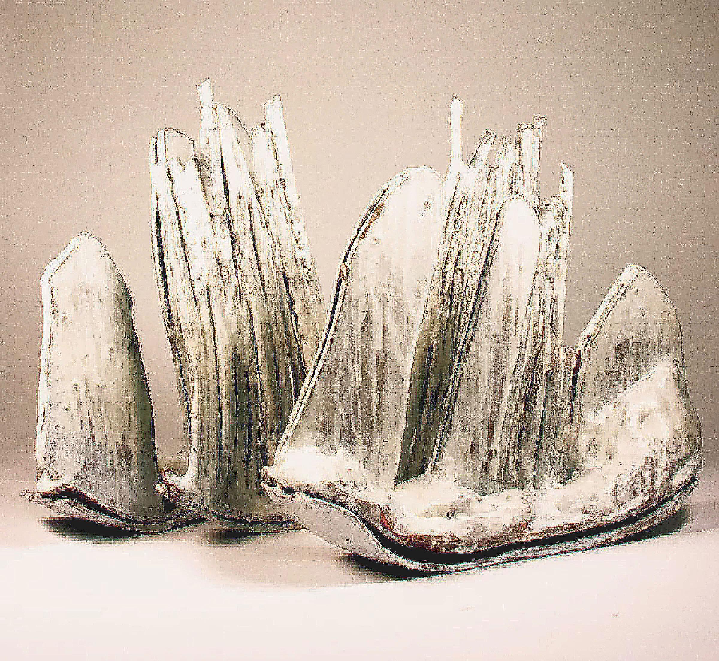58cm W; 56cm H; 35cm D  Hand Built, Glazed Stoneware, Cone 6 Oxidation