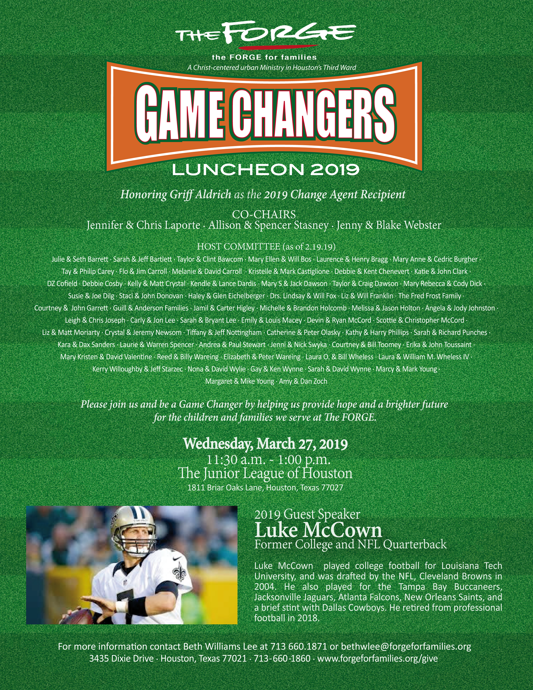 Game Changers Luncheon 2019    Sign Up