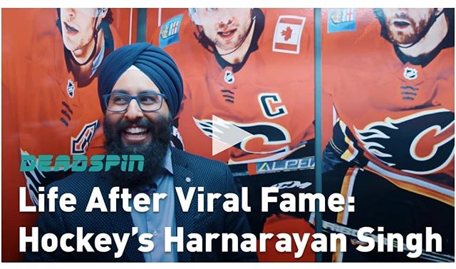Thank you to @deadspin for this video profile. Feeling very blessed.... #Hockey #Deadspin #HockeyIsForEveryone  #NHL #YYC  #HockeyNightPunjabi  #Flames #Broadcasting #Goals #Dreams  #Sports #Media