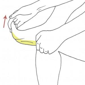 Ejercicio estiramiento de la fascia plantar