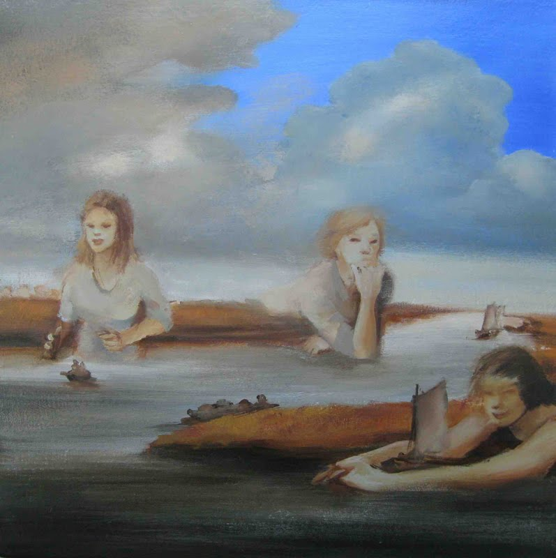A Day Over Reaches, oil on board, 2013