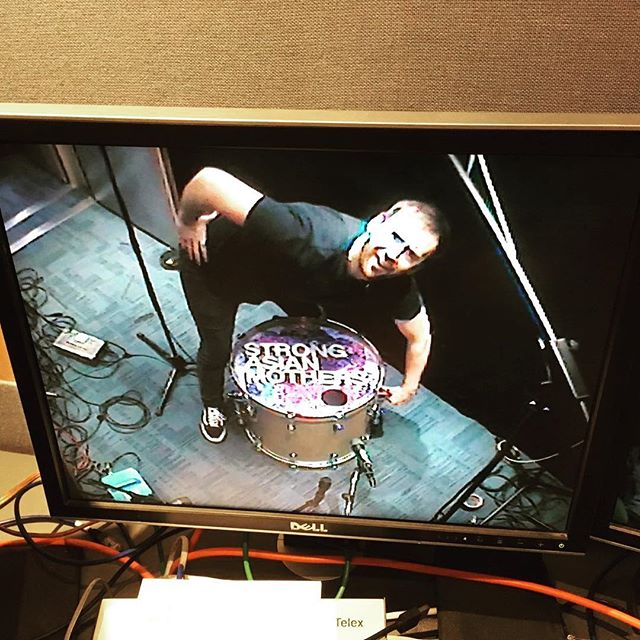 Just smashed open a session for @radiox and caught Josh on the security cameras packing up all sexy like. Look out for us on the wireless with #JohnKennedy #FatherOfNewBandsEverywhere