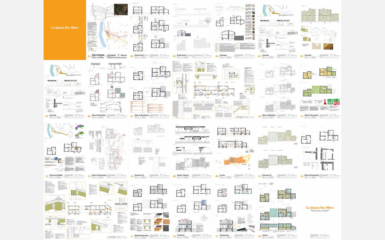 El proyecto está compuesto de un total de 42 planos