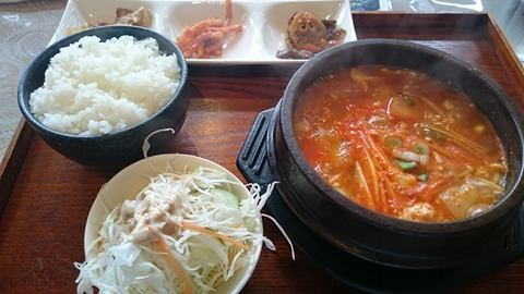 I went for the Sundubu (Spicy Pork Soup with Tofu)
