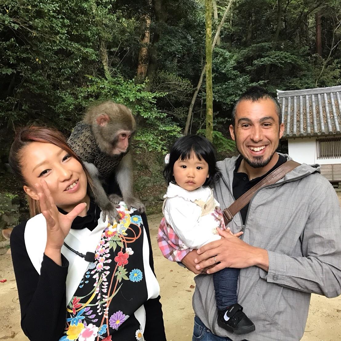 "The monkey was like was looking at my daughter like ""You are the the strangest looking monkey I've ever seen"""