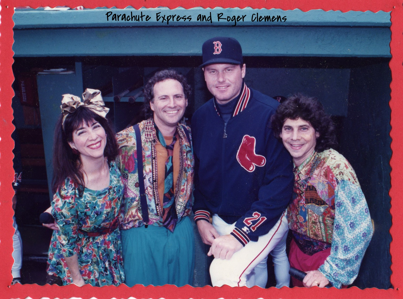 Parachute Express with Roger Clemens at Fenway Park