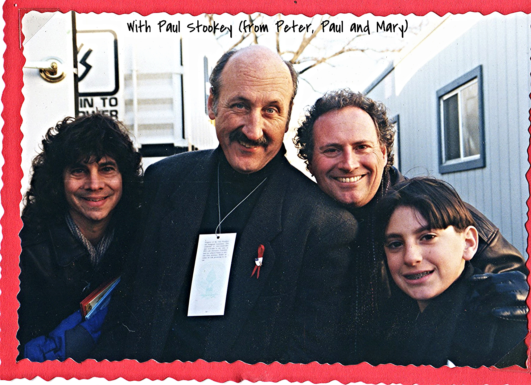 With Paul Stookey (from Peter, Paul and Mary)