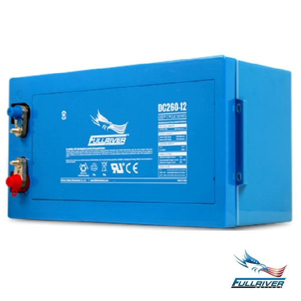 DC260-12   Dimensions: L521mm W269mm H220mm  Weight: 78.2kg  12 Volts 260AH