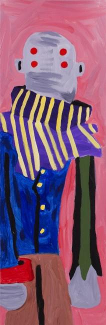 """Zachary Eric Federbush.  Simon . 2017, Acrylic on canvas, 36"""" x 12"""""""