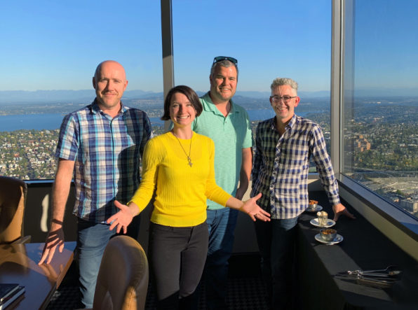Left to right: Matthew Protti (CEO – BlackSquare), Madeline Puckette (Co-Founder – Folly Enterprises), Ben Andrews (Co-Founder – Folly Enterprises), David Gluzman (CEO – Folly Enterprises)