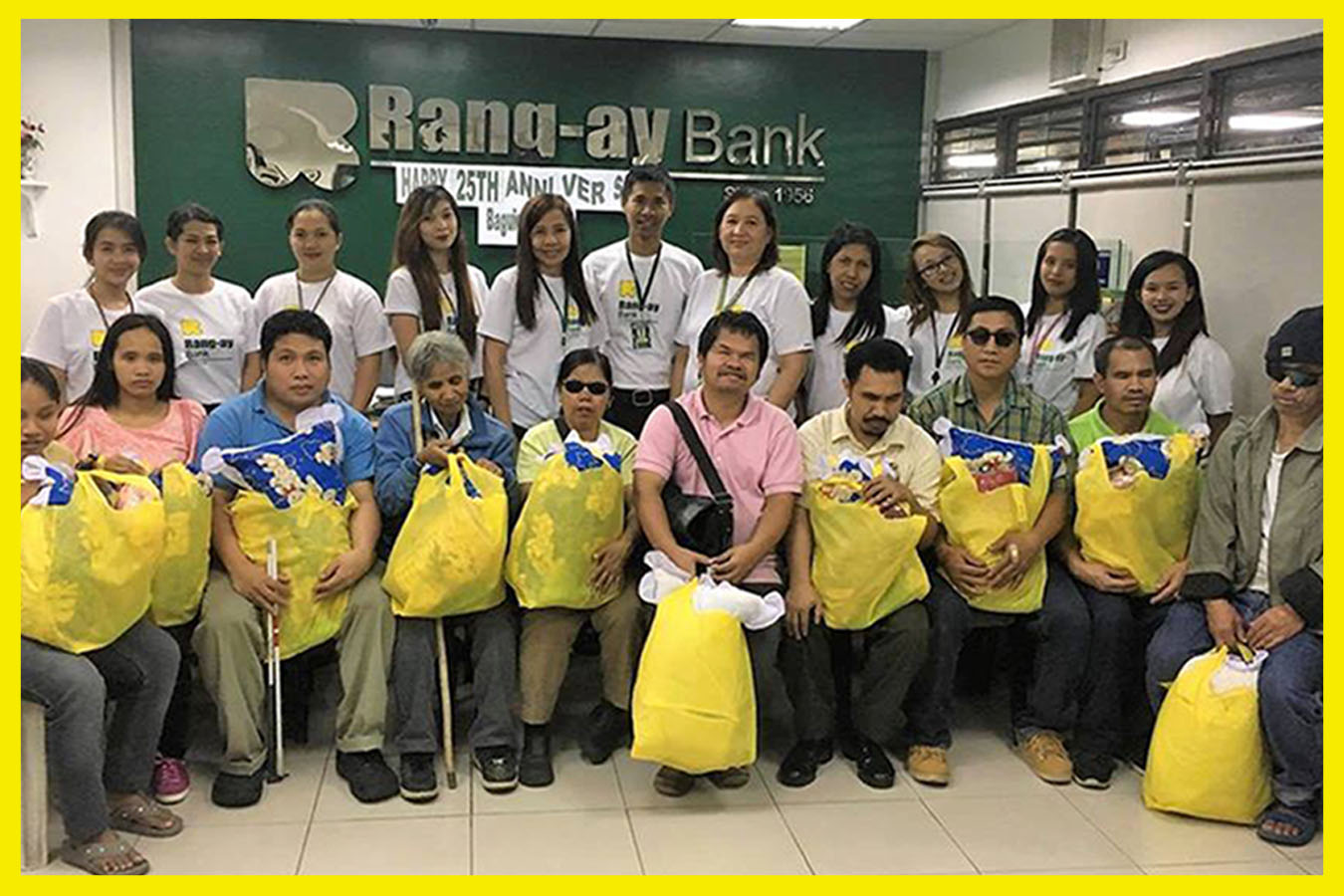 Rang-ay Baguio Branch Conducted a livelihood project for the blind therapists head by Rodolfo Majestrado.