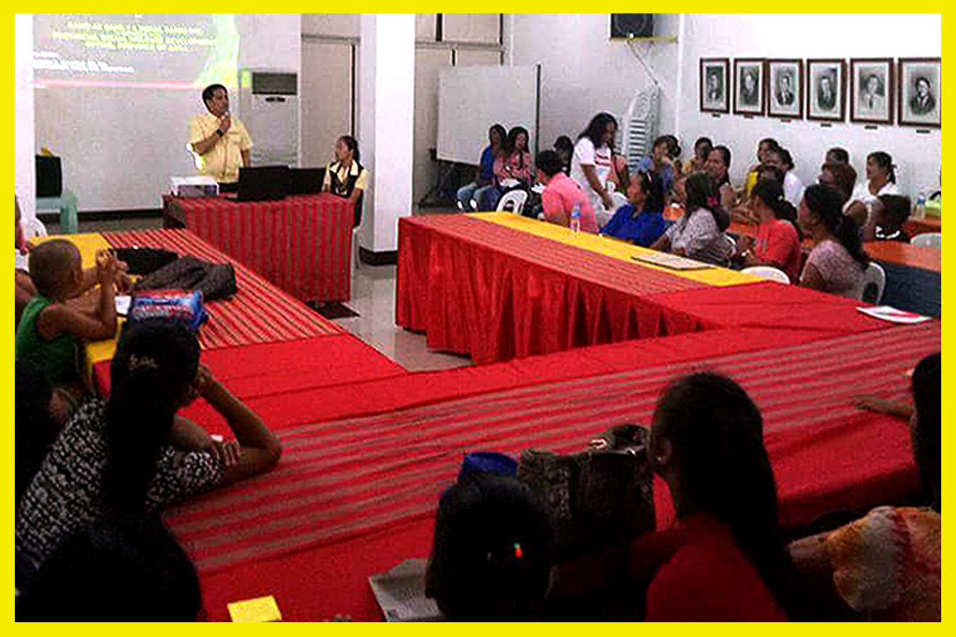 Rang-ay Bangued Senior Manager John Marinius De La Cruz addressing women from different town of Abra HEaded by Decimia Cabang