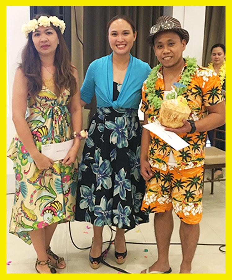 Charlene Sarzadilla & Arsenio Corpuz won the Best in Hawaiian Costume
