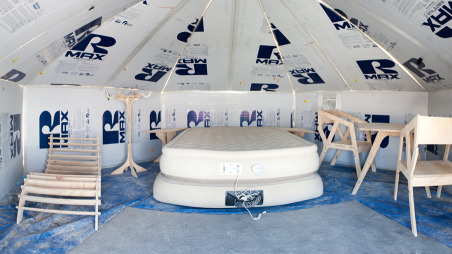 The standard yurt interior
