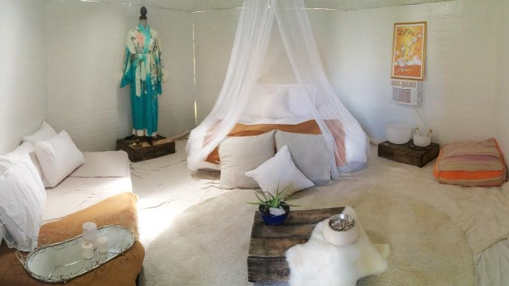 Burner Yurts' interior