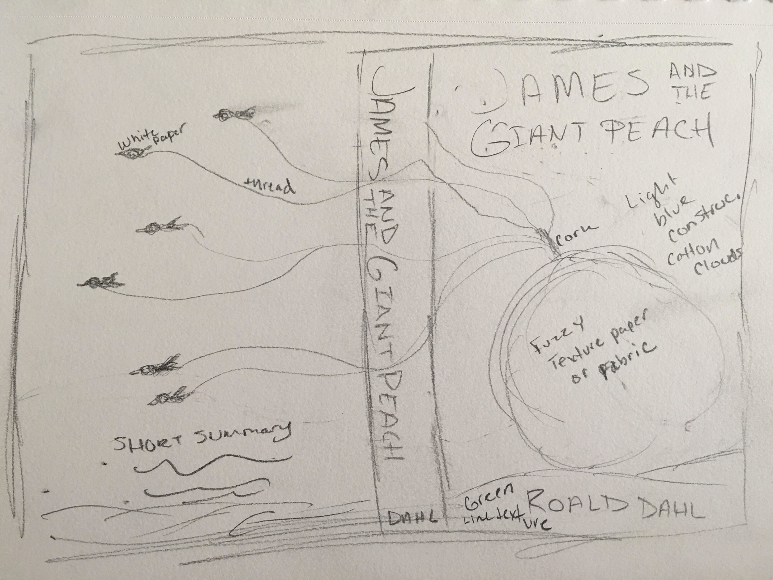 James and The giant Peach Sketch