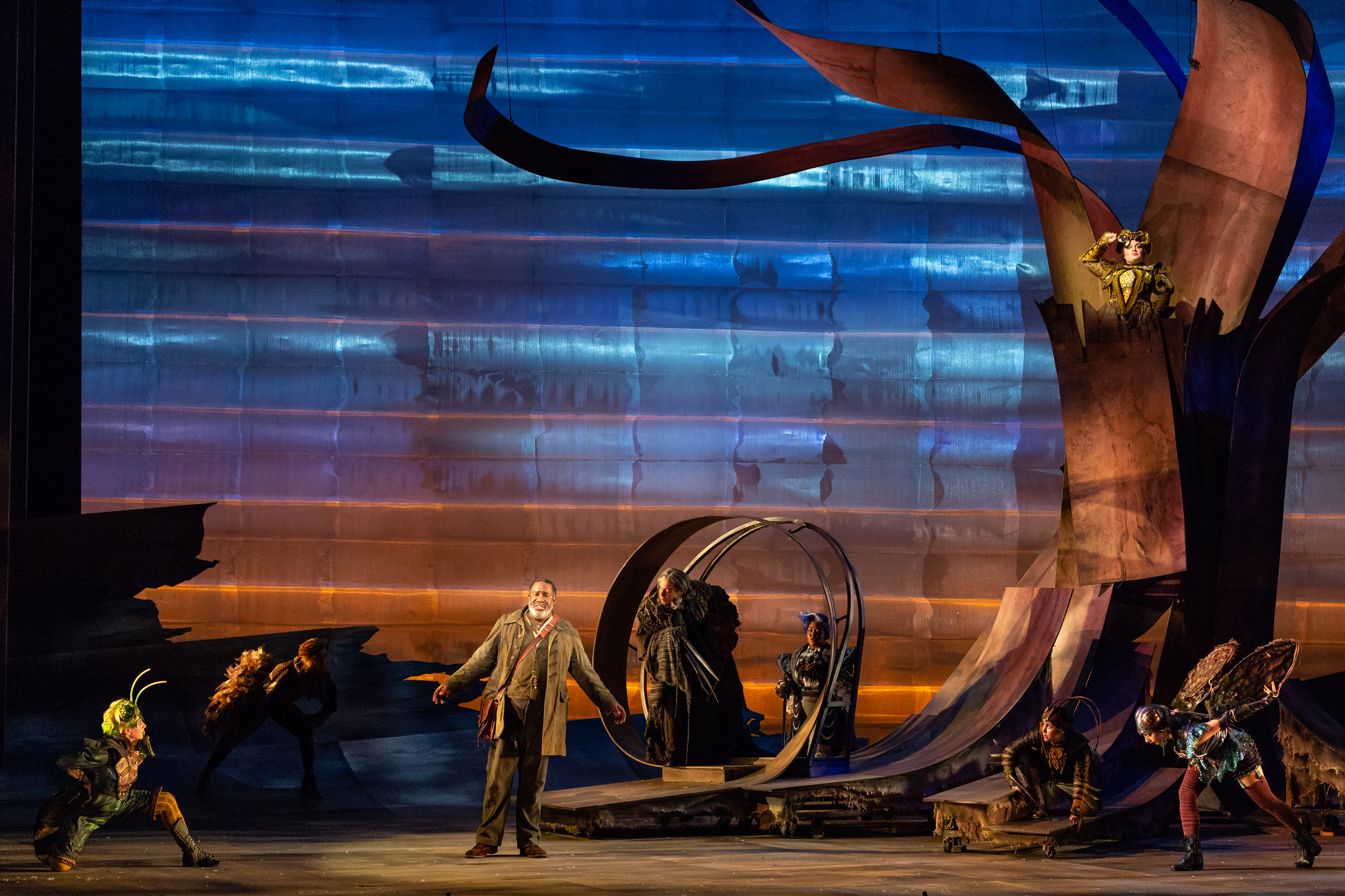 Dog in  The Cunning Little Vixen  at The Glimmerglass Festival 2018  Photo: Karli Cadel