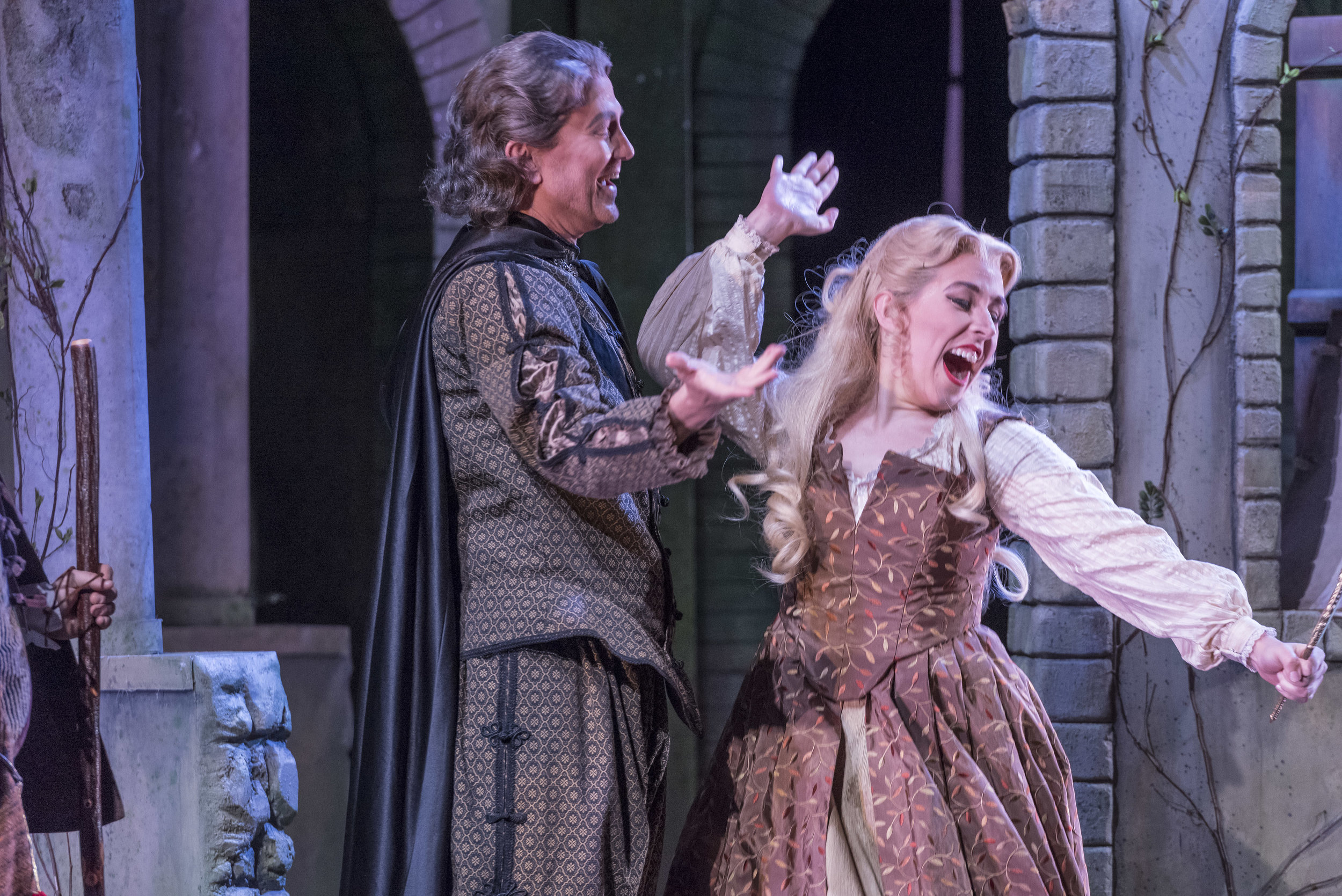 """Opera Saratoga '17 - """"Apprentice Artist Katherine Maysek (Lisbé) acted amusingly and sang healthily as Zémire's """"Material Girl"""" sisters."""" - Opera News """"Two members of the Opera Saratoga Young Artist Program, soprano Lisa Rogali and mezzo-soprano Katherine Maysek, played, respectively, Sanders' two other daughters, the vain and flighty Fatme and Lisbe. Both performers offered pert, preening delight and evinced clean mastery of the sprightly yet demanding vocal lines with which Grétry's score tasks them."""" - La Scena Musicale""""Katherine Maysek and Lisa Marie Rogali play her two sisters, Fatmé and Lisbé, whose vanity is easily redeemable as the audience learns they do care for their family's well-being but go about it the wrong way. The two act like a humorous duo as they're almost always seen providing sight gags together, like Tweedledee and Tweedledum."""" - Spotlight NewsPhoto: Gary David Gold"""