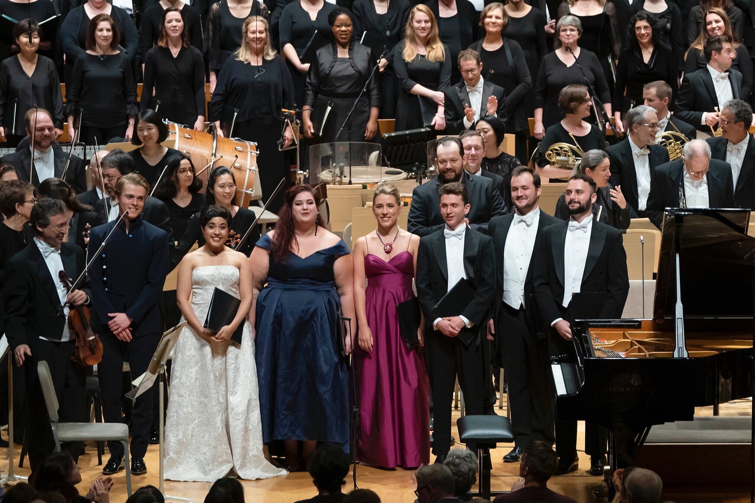"""Boston Symphony Orchestra '19 - """"…and a solid sextet of Tanglewood Music Center vocal fellows took the solos."""" - The Boston Globe""""…Katherine Maysek imbued the performance with a rich and expressive timbre."""" - The TechPhoto: Winslow Townson"""