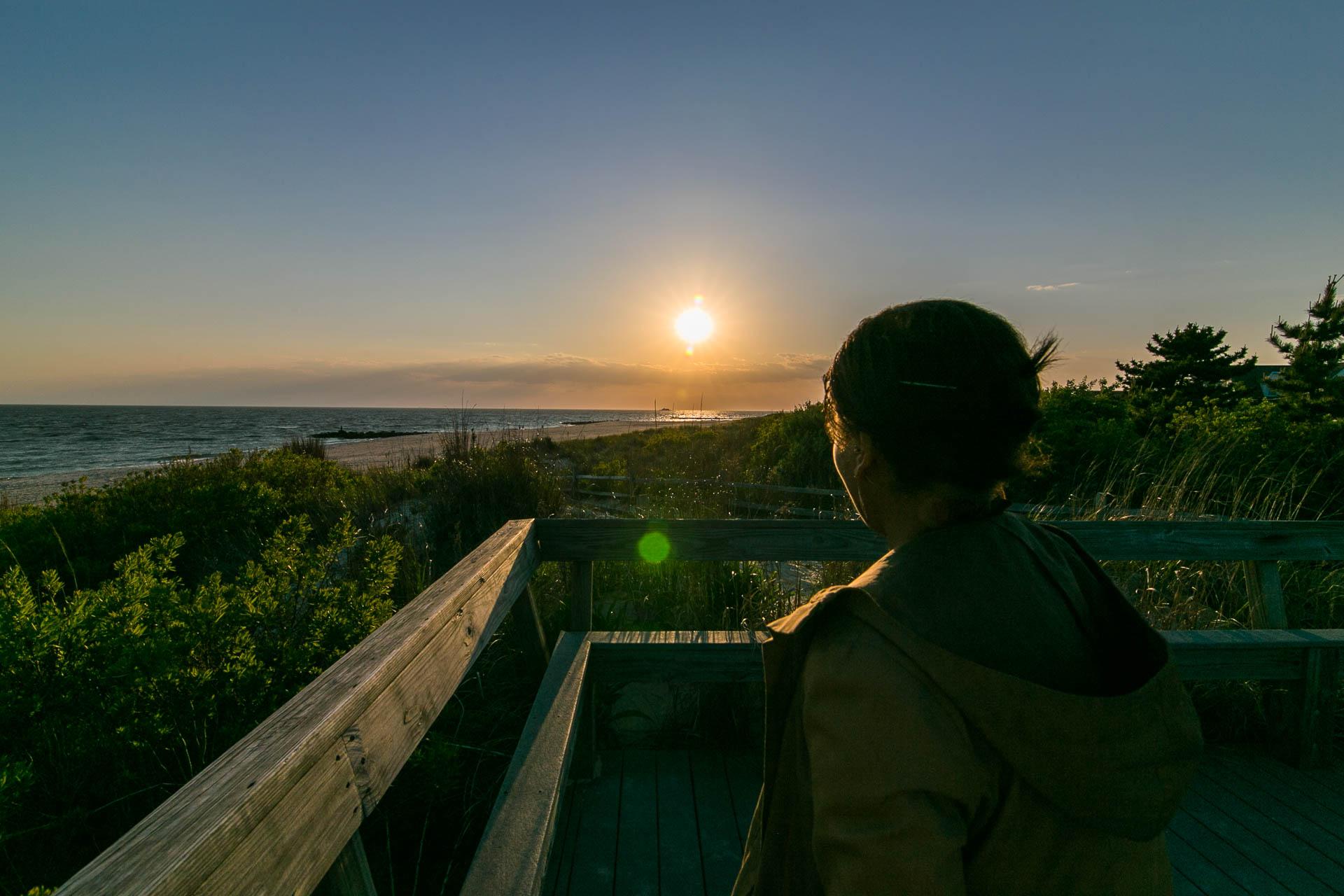 Regina loves a sunset