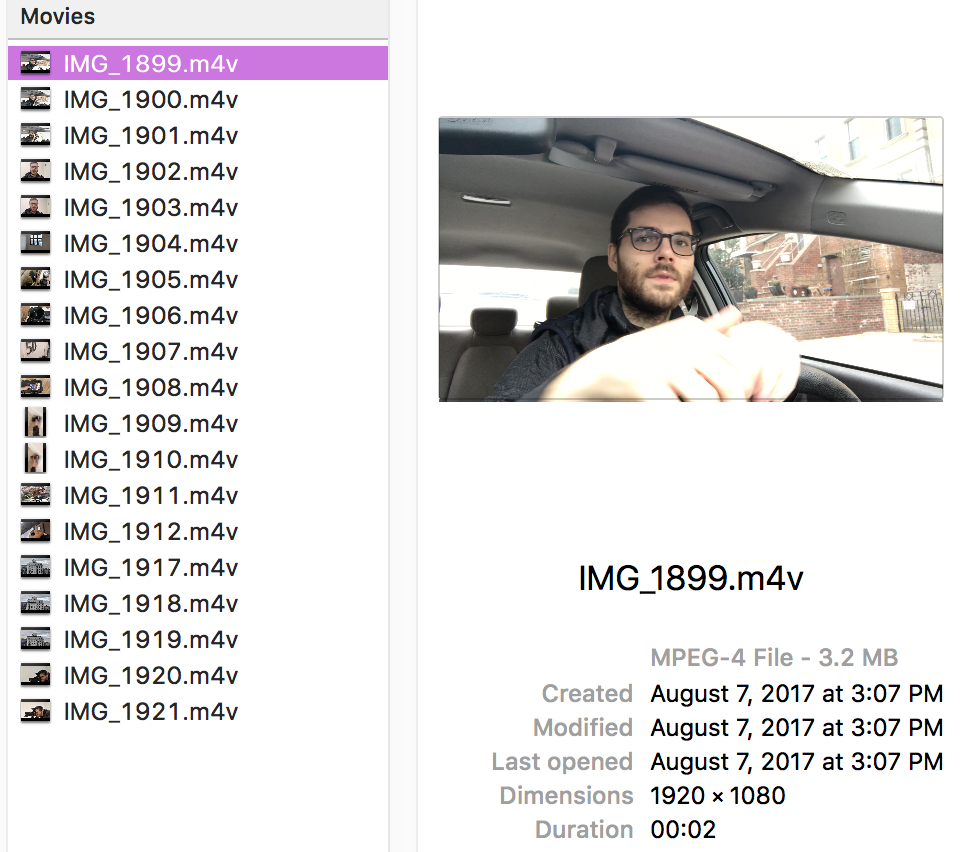 Oh look, a stack of video files awaiting edits. I wonder where I've seen this before?