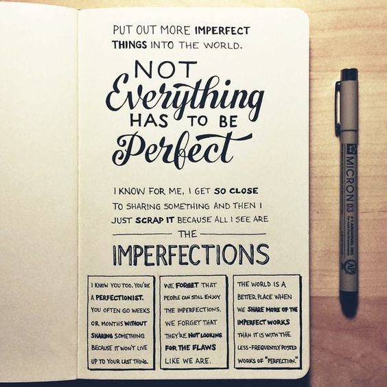 Make Imperfect Things - inspirational hand lettering from  Sean McCabe .