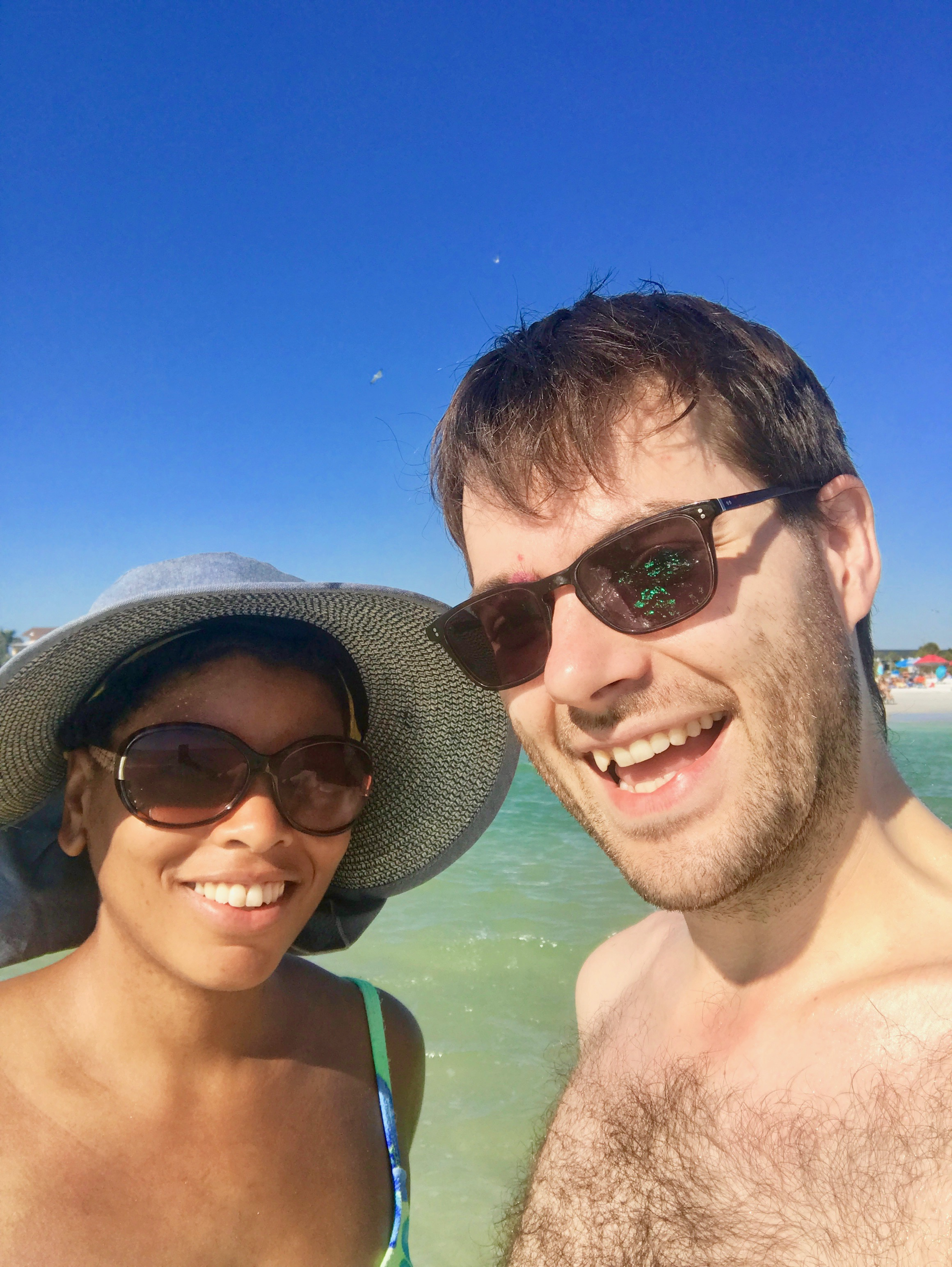 I don't often do selfies, but when I do, they're with Regina. A beautiful beach backdrop is a plus.
