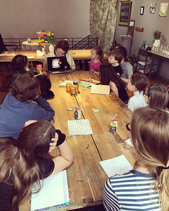 Learning about mandalas for their next camp project #mandalas #art #artcamp #iloveart #childartist #montessori #arteducation #demandmoreart