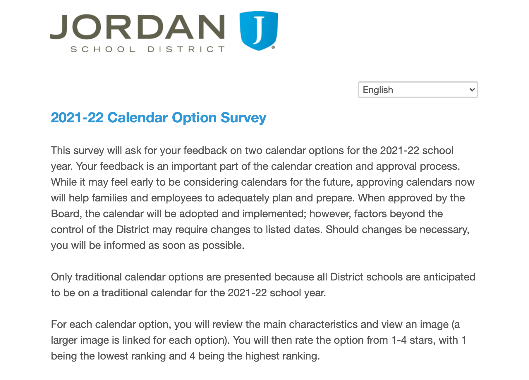 Pictures of Jordan School District 2021-22 Calendar