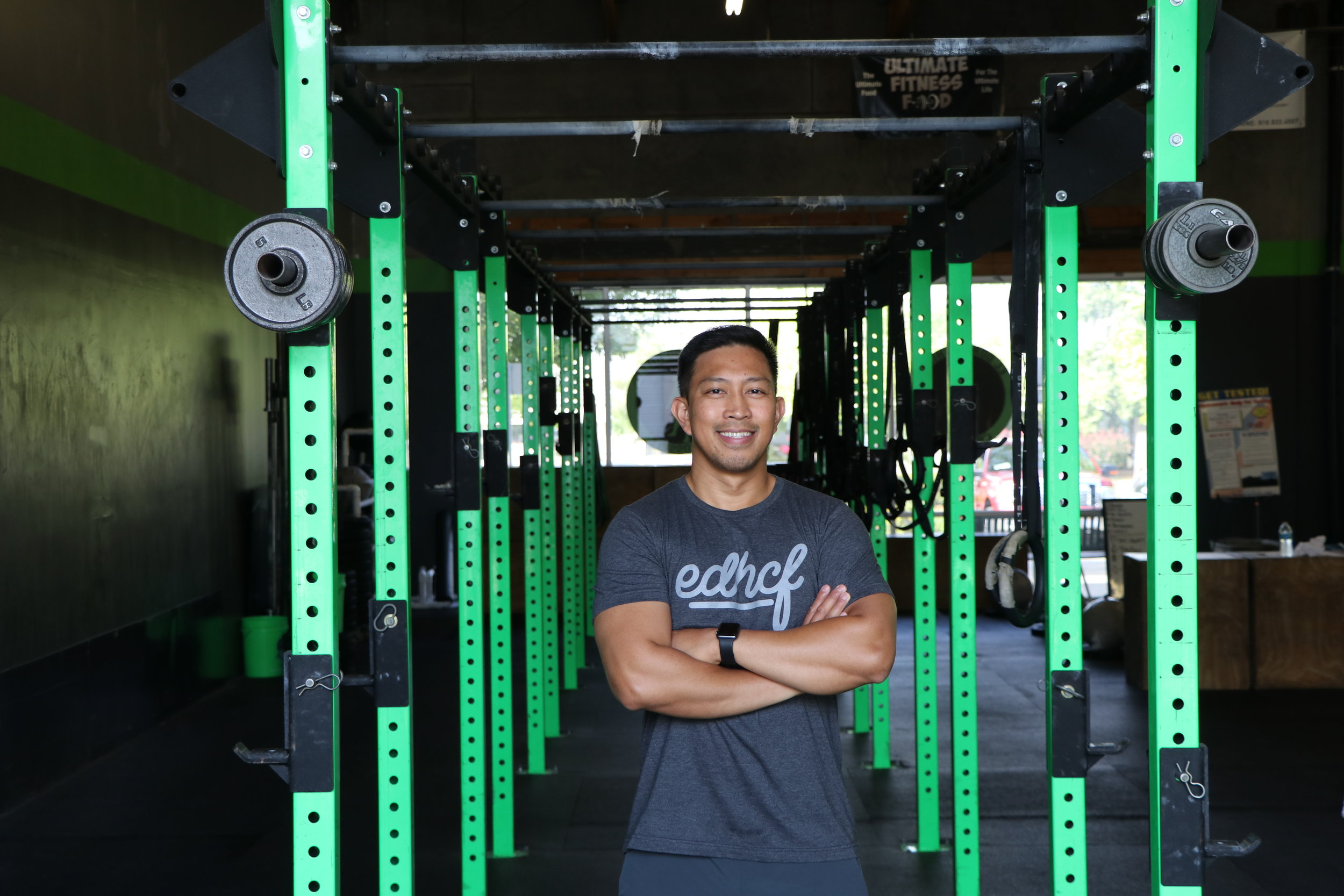 "BILLY TANGONAN Coach   Billy is a Coach at El Dorado Hills CrossFit who grew up playing football and basketball. As an adult, he was looking for a fresh start and a new challenge and CrossFit gave him all that and more. He found El Dorado Hills CrossFit, where he became a member and eventually a coach. It was the best decision he's ever made.  ""I love motivating and helping people reach their fullest potential. A healthy lifestyle can change both your body and mind to create the best version of yourself. If you believe it, you can definitely achieve it!""  CERTIFICATIONS: CrossFit Level 1"